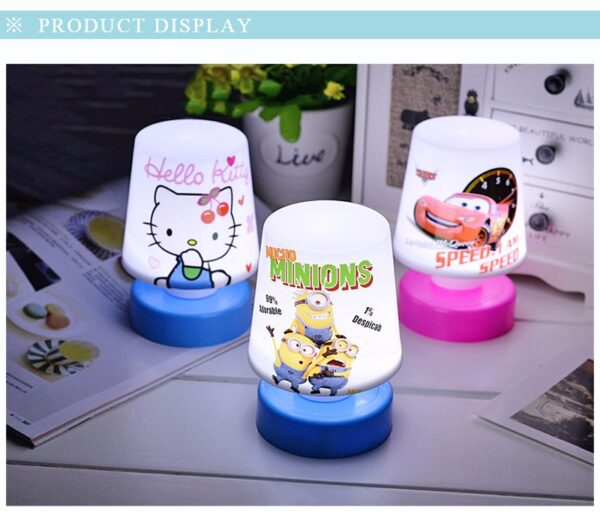 New Kids Gift Cartoon Mini Small Pat Lights Table Lamp